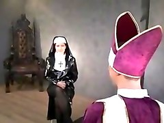 Nun, Facesitting, Rubber latex domina