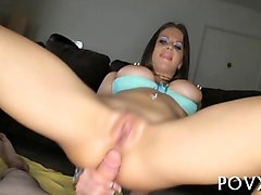 Nipples, Sucking her man while dildo riding