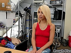 Blonde, Hot blonde teen strips