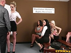 Group, Femdom, Cfnm, Asian cfnm humiliation