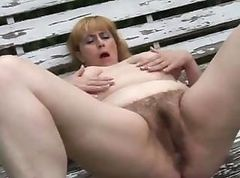 Chubby, Hairy, Mature hairy pussy licked