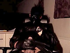 Black, Leather, Breathplay squirt