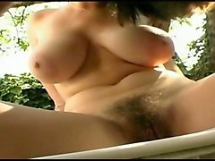 Public, Big Tits, Rough strapon