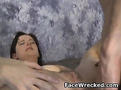 Anal, Rough, Rough blowjob girlfriend
