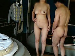 Couple, Japanese old man to fuck her