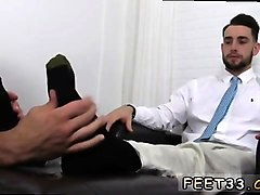 Tied, Cuckold licking boyfriend feet gay