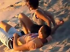 Couple, Beach, Caught, Orgasm couples