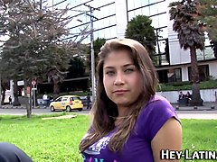 Bus, Latina, Teen, Teen latina does bbc