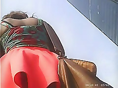 Compilation, Upskirt, Mature outdoor solo