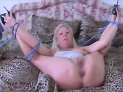 German, Heels, Tied, Granny french anal