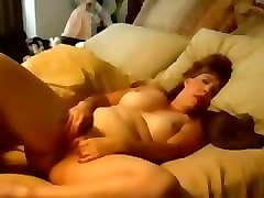 Chubby, Housewife, Wife, Masturbates her pink wet pussy