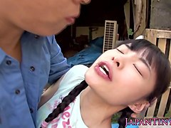 Japanese outdoor sex with sexy aika