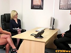 Office, Femdom, Cfnm, Cfnm sex party