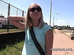 Blonde, Czech, Public, Czech outdoor for cash