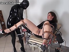 Latex, Interracial crossdresser in jail