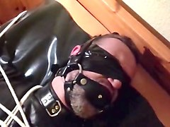 Bondage, Leather, Black lesbian bdsm slave domination