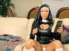Rubber, Nun, Latex rubber smoking asian
