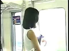 Asian, Train, Pervs on a train