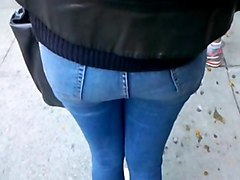 Jeans, Ass, Ebony in booty jeans shorts