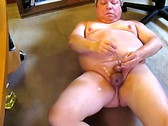 Anal, Oil, Big tits natural tits strap-on anal toy girl on