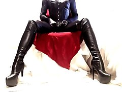 Boots, Leather, Pvc cape