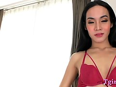 Asian, Ladyboy, Asian boy small cock