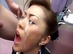 Bukkake, Japanese cum in mouth