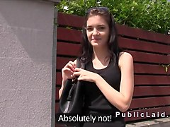 Amateur, Czech, Public, Amateur handjob outdoor