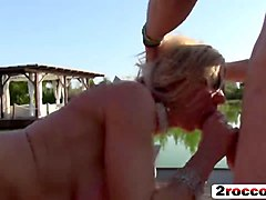 Blonde, Party, Milf, Wife rough gangbang free videos