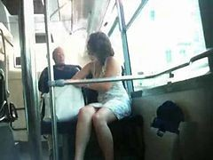 Bus, French, Upskirt, On the bus w jayden james