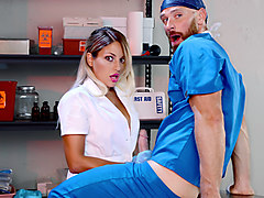 Doctor, Kissing, Allie sin masturbate