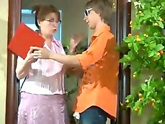 Russian, Real russian mom son sex with english subtitle