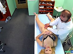 Blonde, Doctor, Massage, Spycam teacher spa massage orgasm part