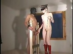 Blonde, Slave, Mistress ballbusting and ball whipping
