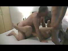 Cuckold, Mature bi cuckold interracial threesome