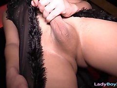 Black, Ladyboy, Doll, Sexy ladyboy fucked in as