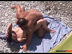 Couple, Beach, Hidden, Voyeur anal couple