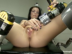 Orgasm, Machine, Faces of anal pain competition