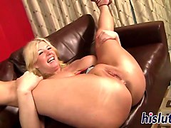 Blonde, Chubby, Titjob, Chubby blonde fucked hard