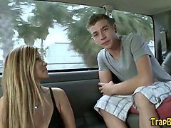 Teen, Ass, Watching gay masturbation in car