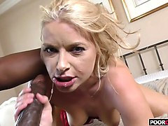 Wife, Cuckold, Petite getting fucked by monster white dick