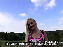 Blonde, Czech, Pov czech outdoor blond