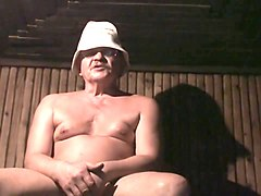 Sauna, Six girls wank young boy in sauna