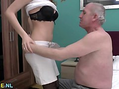 Teen, Fat mature and old man