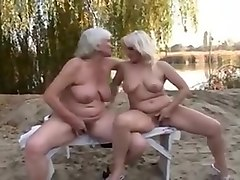 Granny, Hairy, Hairy granny with glasses masturbating