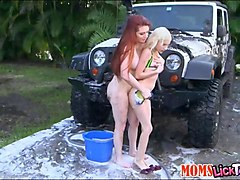 Teen, Russian mom outdoor
