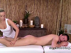 Blonde, Massage, Ass, Prostatic massage