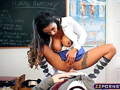 Teen, Fucked by his sexy teacher