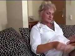 Anal, Blonde, Shaved horny granny anal