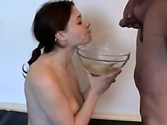 Swallow, Indian girls sucking cock n swallowing piss